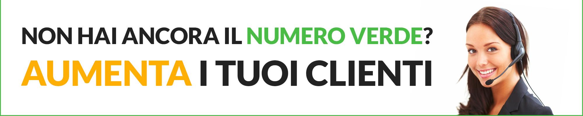 Attiva ora il tuo Numero Verde